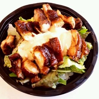 柔らかマヨ鶏チャーシューサラダ丼