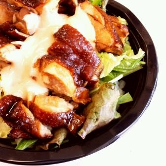 マヨ鶏チャーシューサラダ丼