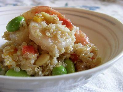 枝豆とえびとキヌアのサラダ