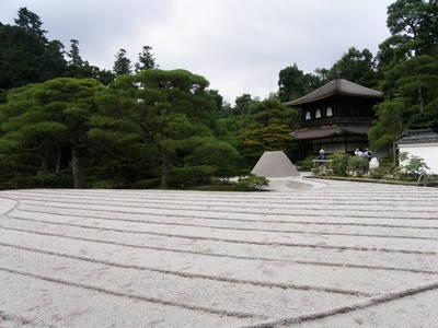 銀閣寺の銀沙灘