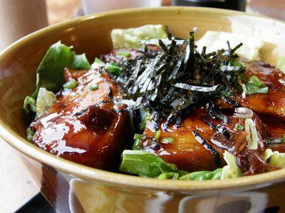 豚の角煮 明太マヨ丼
