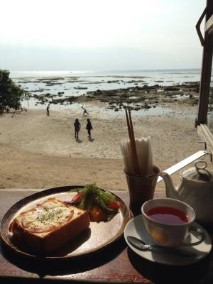 浜辺の茶屋 景色