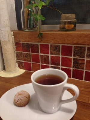 Cafe Respiro ミニほうじ番茶とちいさなクッキー