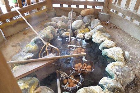 川湯の温泉卵