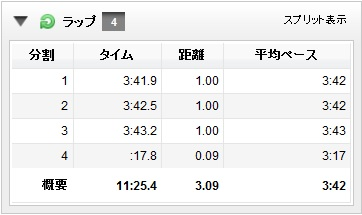 2013記録会3000m