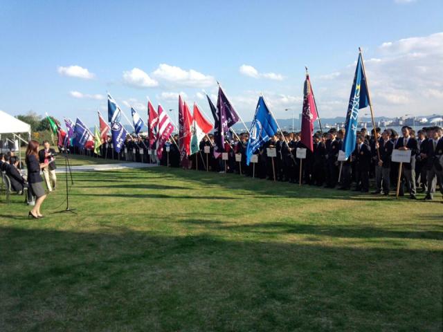 全日本インカレ開会式風景