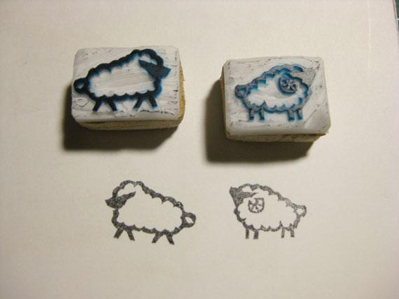 消しゴムハンコ・羊01