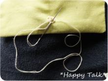 スナップボタンの縫い付け方1