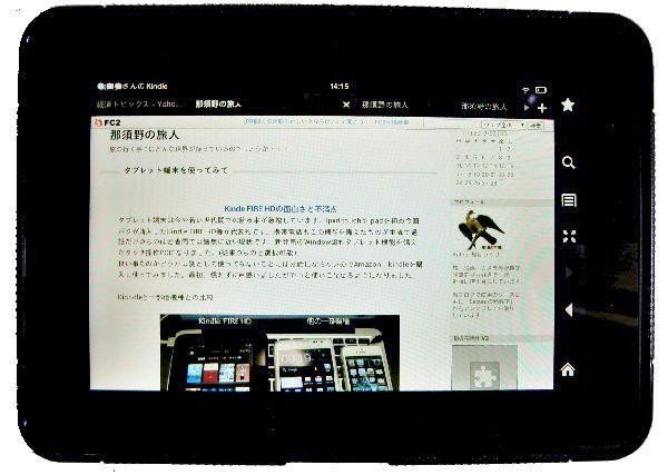 Kindle表示のマイブログ