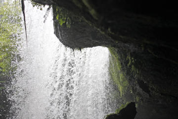 滝を裏からみよう