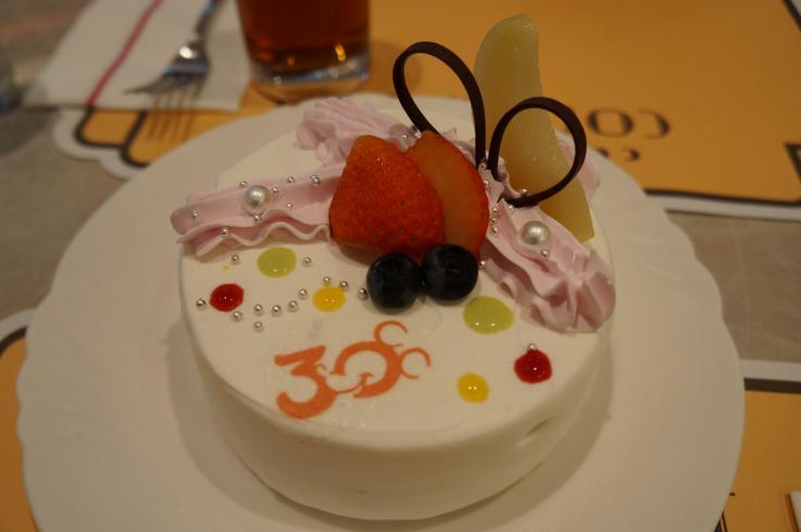30周年ケーキ