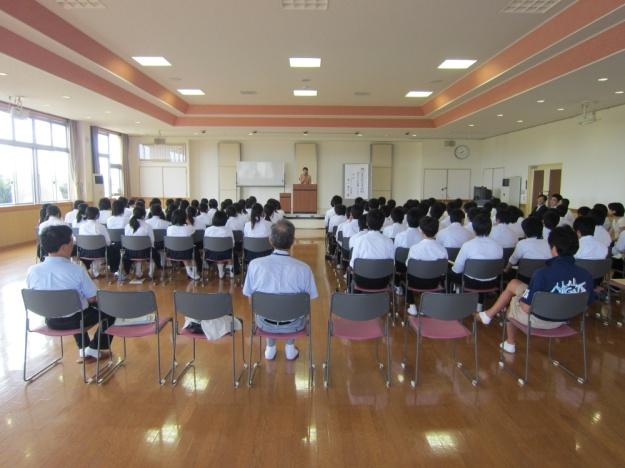 小合中学校講演会1