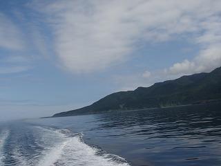 岬を後にします