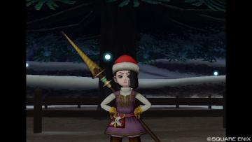 サンタの帽子をかぶって・・・