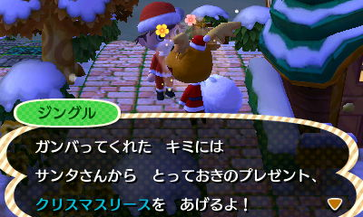 クリスマスリースもろた