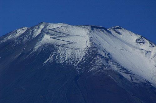 富士山山頂付近