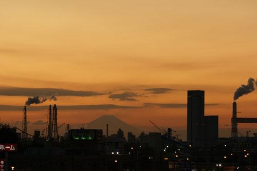 ベランダから富士山