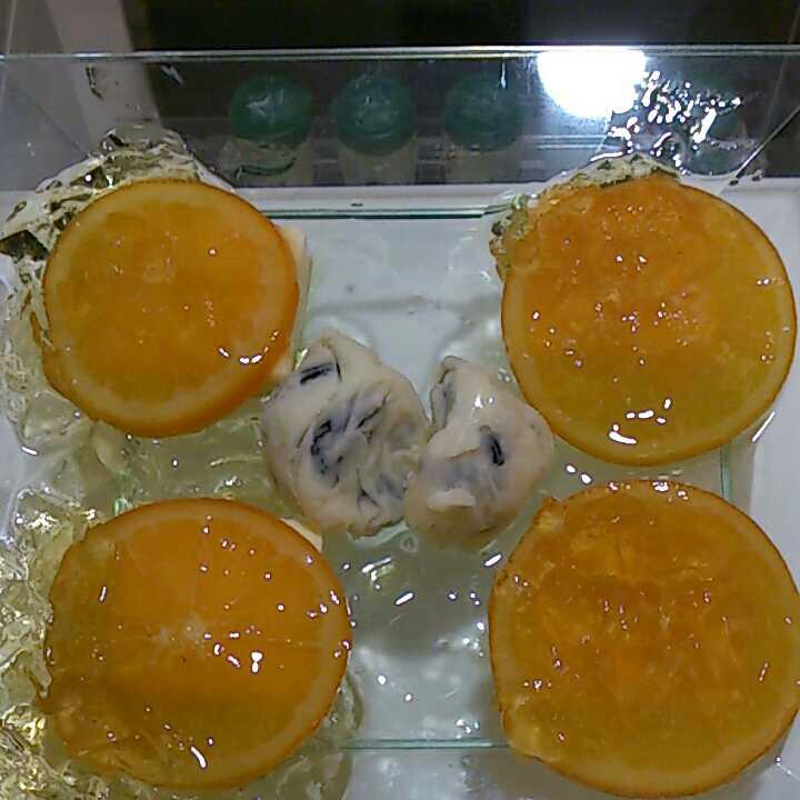 ラムレーズンとオレンジのクリームチーズ