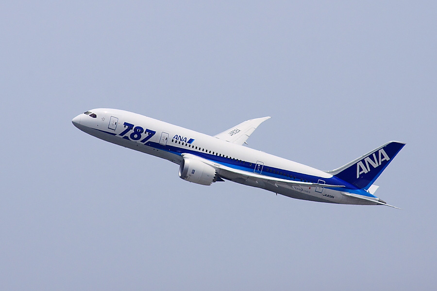 ANA B787-881 ANA24@昆陽池公園(by EOS 50D with SIGMA APO 300mm F2.8 EX DG/HSM + APO TC2x EX DG)