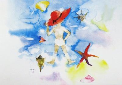 いわさき貝と赤い帽子