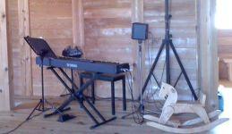 ピアノと木馬