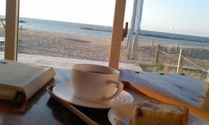 海とお茶とケーキと本