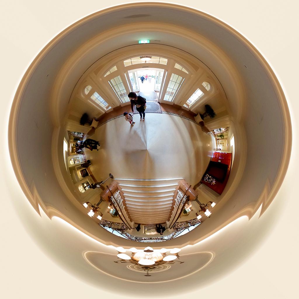 南側エントランス 全天球(東京ディズニーランドホテル)