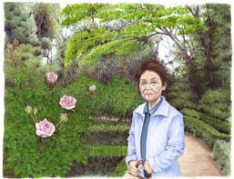 母~旧古川庭園にて