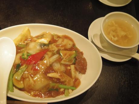 広東炒麺あんかけごはん