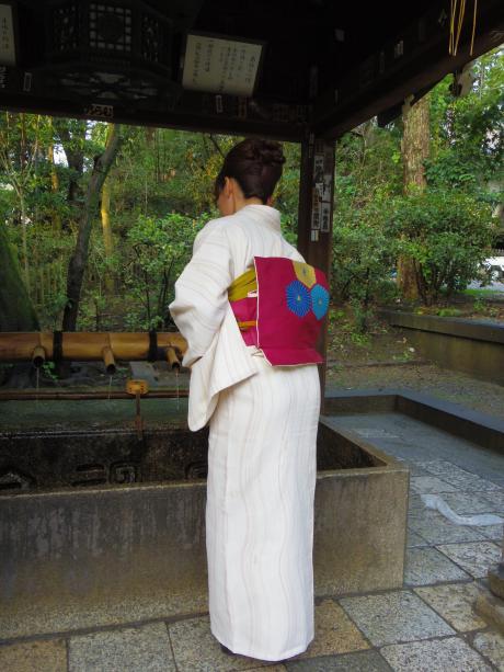 京都で着物2