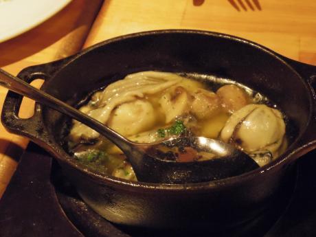 シャンパン食堂牡蠣のオリーブオイル煮
