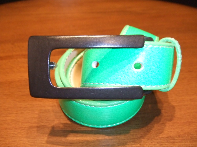 MDY LEATHER BELT GREEN