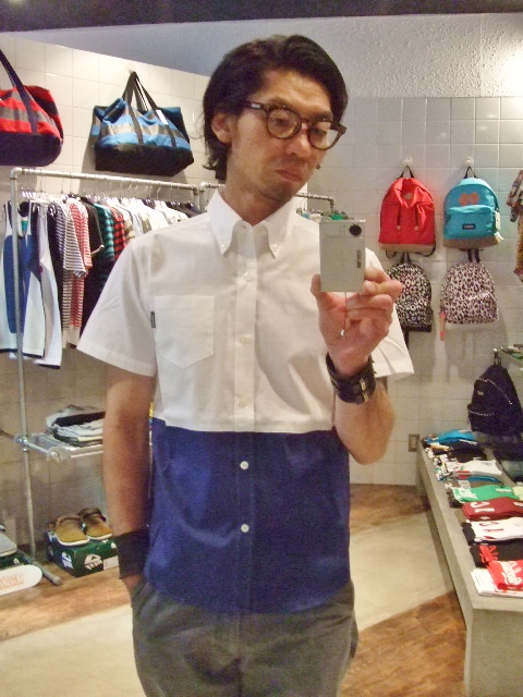 MDY12 EXCHAGE BD SHIRT BLUE S