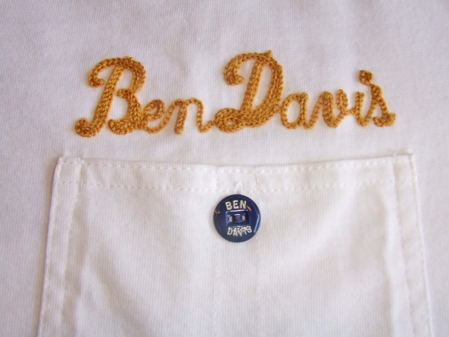 BENDAVIS PIPE POCKETED TEE WHITE PT