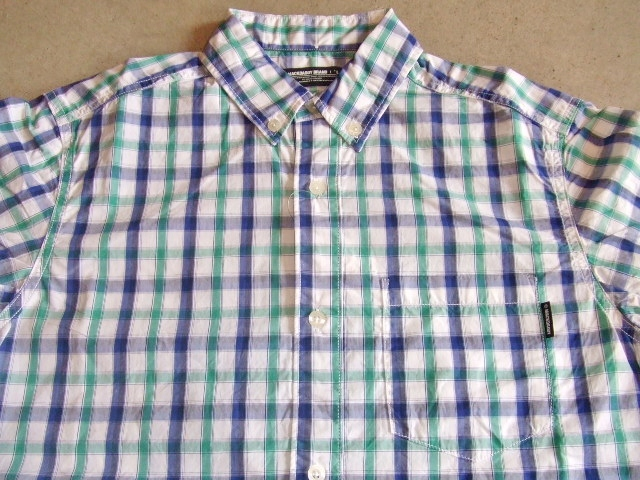 MDY BD CHECK SHIRT GREEN