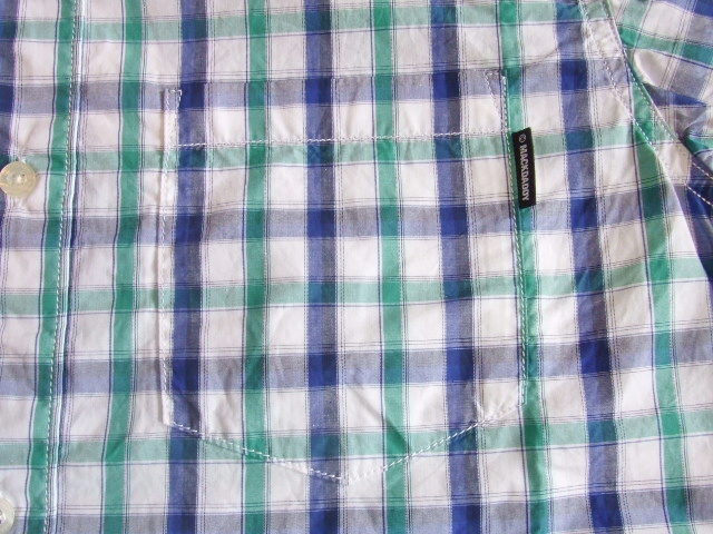 MDY BD CHECK SHIRT GREEN PT
