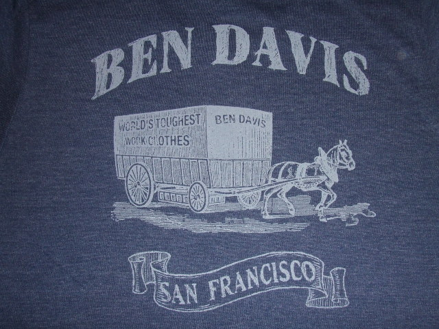 BENDAVIS CARRIAGE MELANGE SS TEE OATMEAL NAVY BK