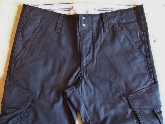 SEEth COURAGE  CARGO PANTS NAVY FT1