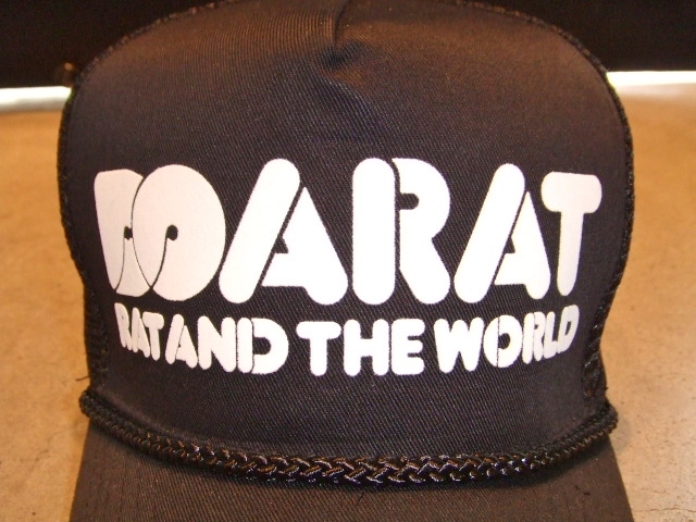 DOARAT RAT&THE WORLD COTTON CAP BLACK FT