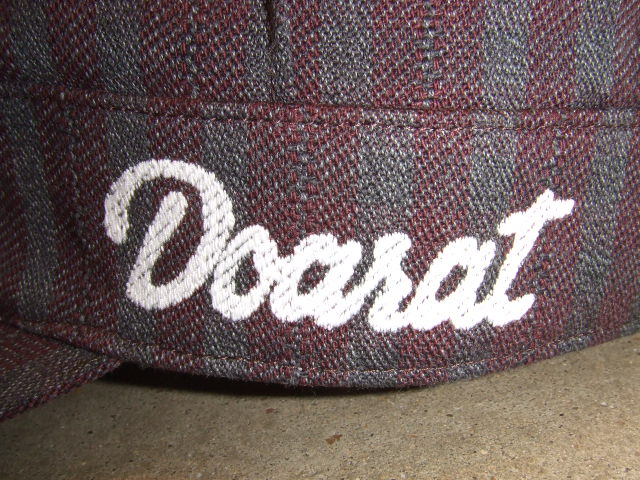 DOARAT STRIPE WORK CAP BURGUNDY SD LG