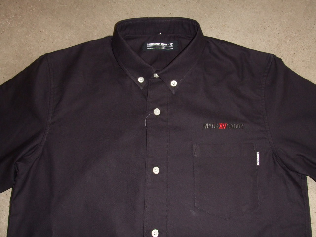 MDY OXFORD B.D. COMBI SHIRTS BLACK FT1