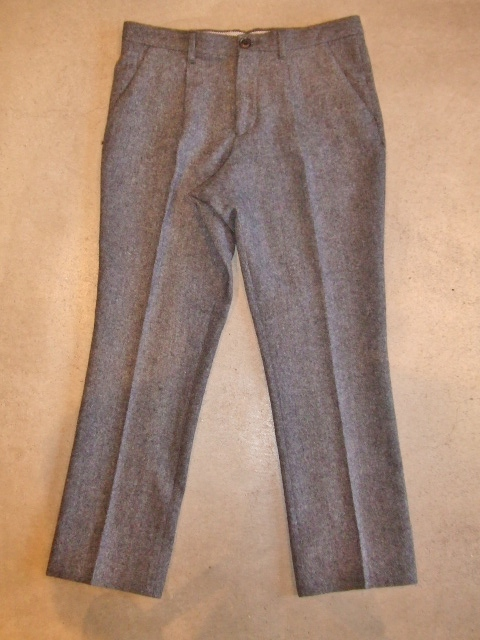 MDY WOOL TROUSERS PANTS GRAY