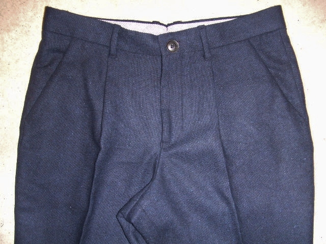 MDY WOOL TROUSERS PANTS NAVY