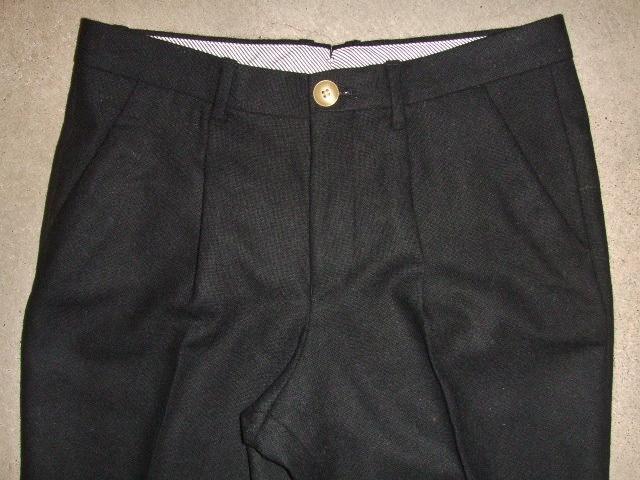 MDY WOOL TROUSERS PANTS BLACK