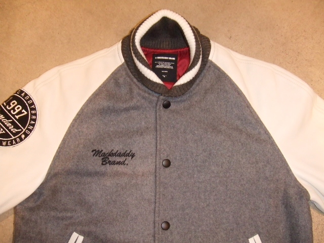 MDY 15th VARSITY JACKET2012 GRAY FT1
