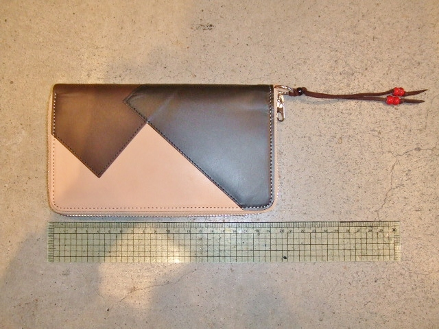 rehacer Pach work zip wallet BEIGE5