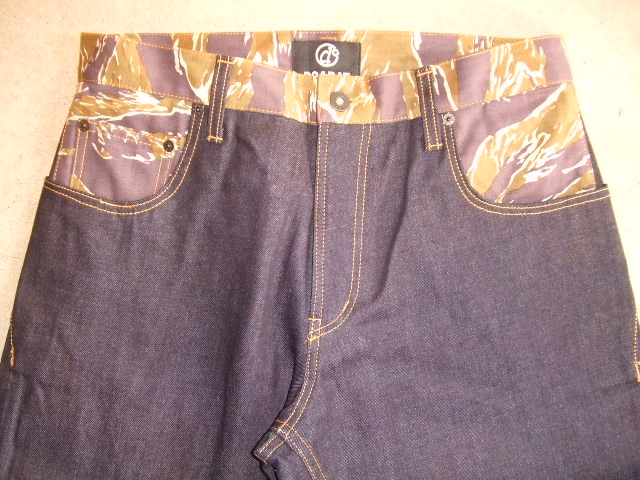 DOARAT COMBINATION DENIM PANTS TCAMO FT1