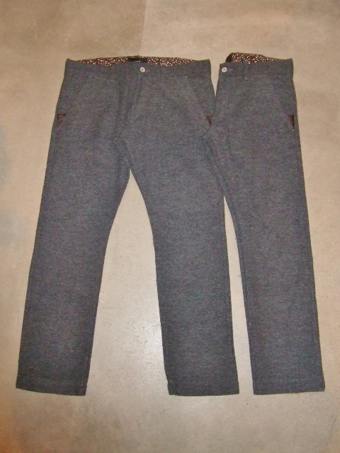 rehacer POINT LEATHER WOOL TROUSERS