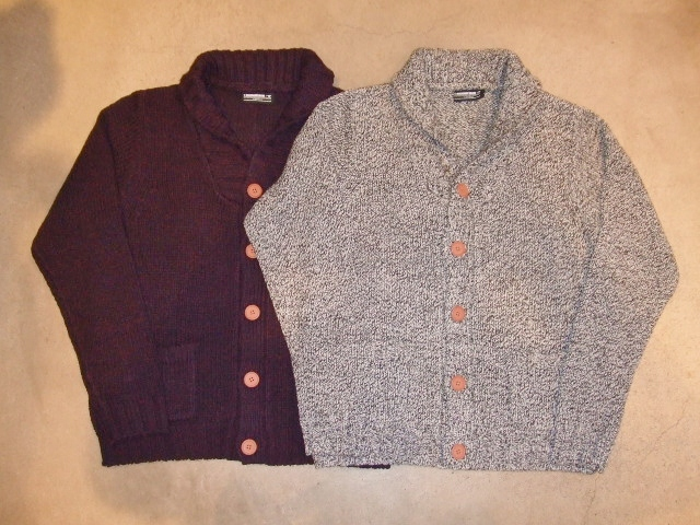 MDY SHAWL COLLAR KNIT CARDIGAN