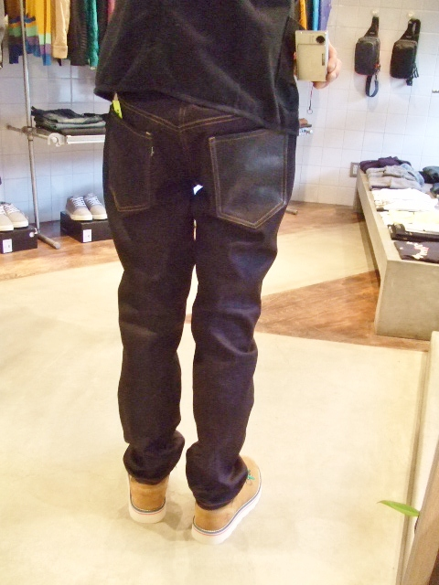 DOARAT DENIM x LEATHER SLIM PANTS ST2